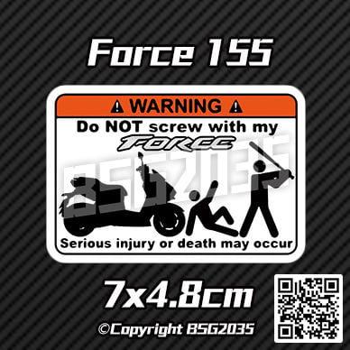 Force 155 警告貼紙 防水材質 (Yamaha、原力、小T媽)