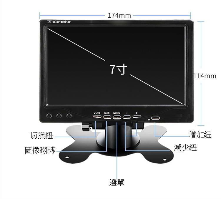 免運 7吋或10吋 IPS1024*600 顯示器 支援hdmi vga AV 監控 顯示屏 螢幕 電視 液晶 7吋螢幕