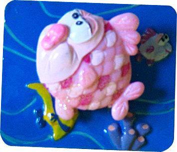 海底世界磁鐵隨意貼~魚會動喔!共有4款(6.2x5.2cm)A-模型雜貨