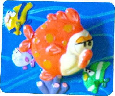 海底世界磁鐵隨意貼~魚會動喔!共有4款(6.2x5.2cm)D-模型雜貨