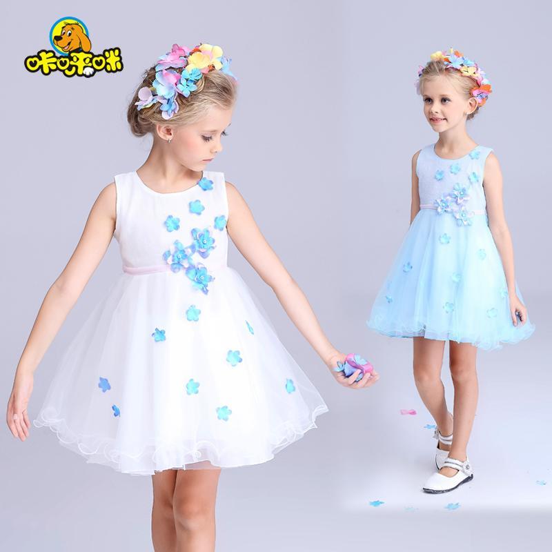 童裝女童連衣裙夏裝2016新款兒童公主裙夏季背心裙小女孩無袖裙子