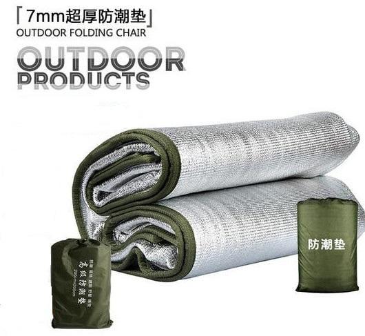 7mm超厚雙面鋁箔防潮墊200 240CM 加厚加寬 露營專用墊 野餐墊 睡墊 隔熱墊