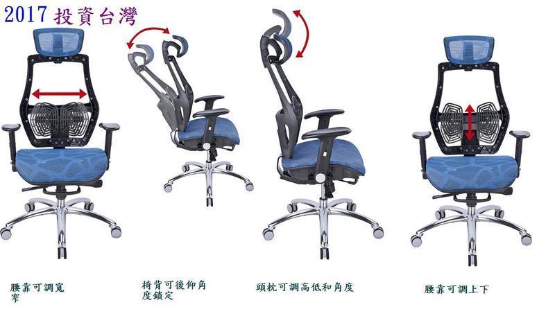 2017投資台灣 【家的椅子】17-1 人體工學網椅 辦公椅 電腦椅 醫師椅..貨到付款免運費