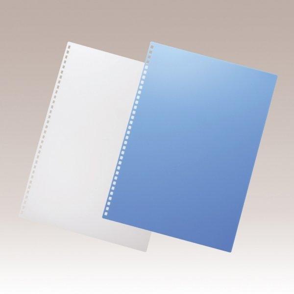 【UZ文具】日本進口 LIHIT A4專用34方孔 活頁封面膠片 8片入/包 (N-1835)透明/藍 二色可選購 打孔機搭配P-1600或是CR-B12