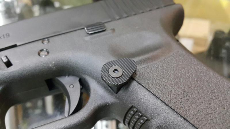 【五0兵工】謎版Glock專用大型彈匣釋放鈕,IPSC,G17,G19,G18c