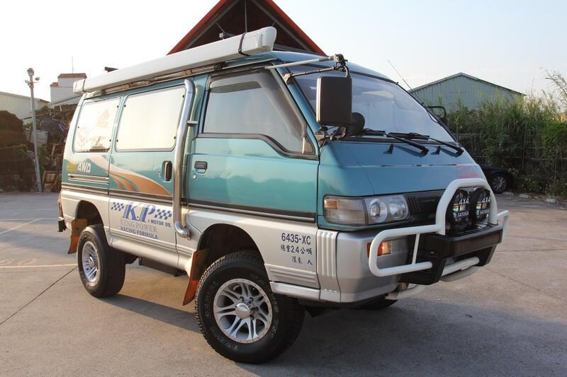 已售出 96年 露營版 三菱 得利卡 綠視界 (綠世界) 柴油 4WD 全功能 露營車