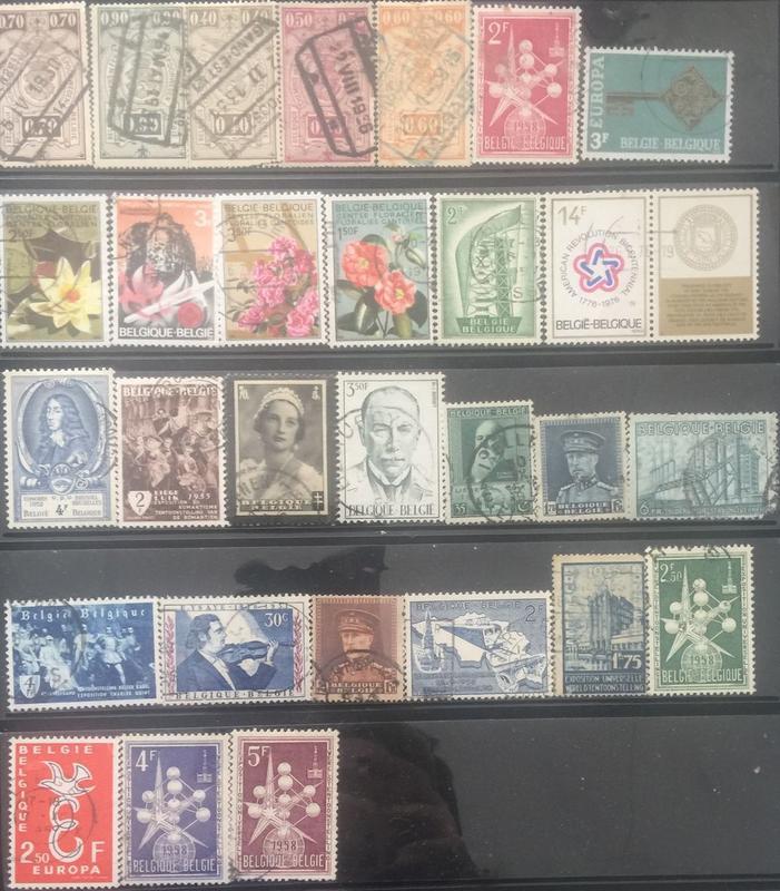 【AOG 隱世一方】比利時 郵票一批****Book014