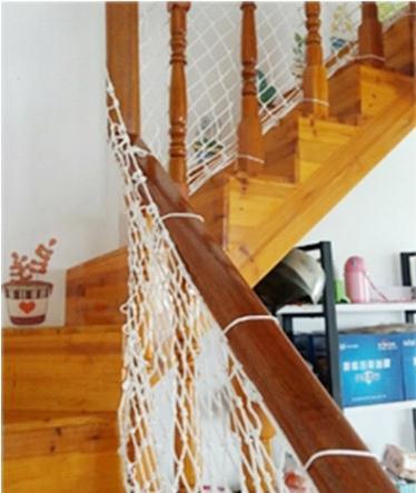 安全網天井網樓梯網尼龍繩網幼兒園兒童樓梯防護網護欄攀爬網拓展攀登網繩