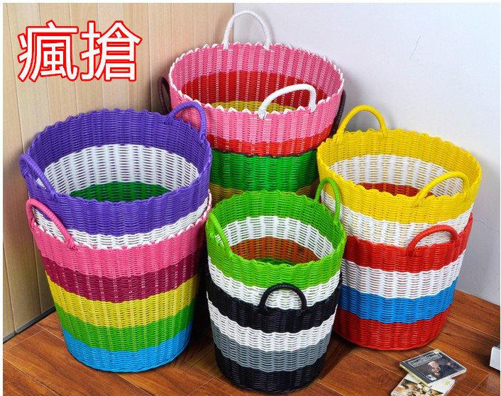 愛尚家居    臟衣籃塑料藤編臟衣服收納筐收納籃臟衣簍洗衣籃編織籃