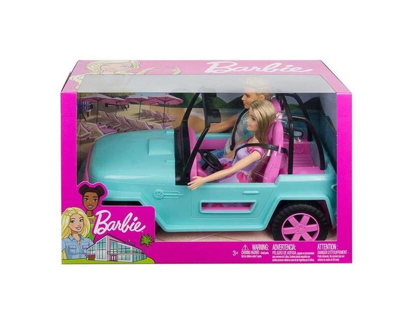 正版授權 MATTEL 美泰兒 Barbie 芭比娃娃 芭比與肯尼旅行車 生日禮物