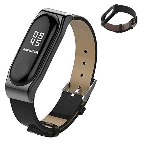 熱銷 小米手環3代 皮紋PU腕帶/錶帶 加贈保護貼2張 小米3 專屬錶帶