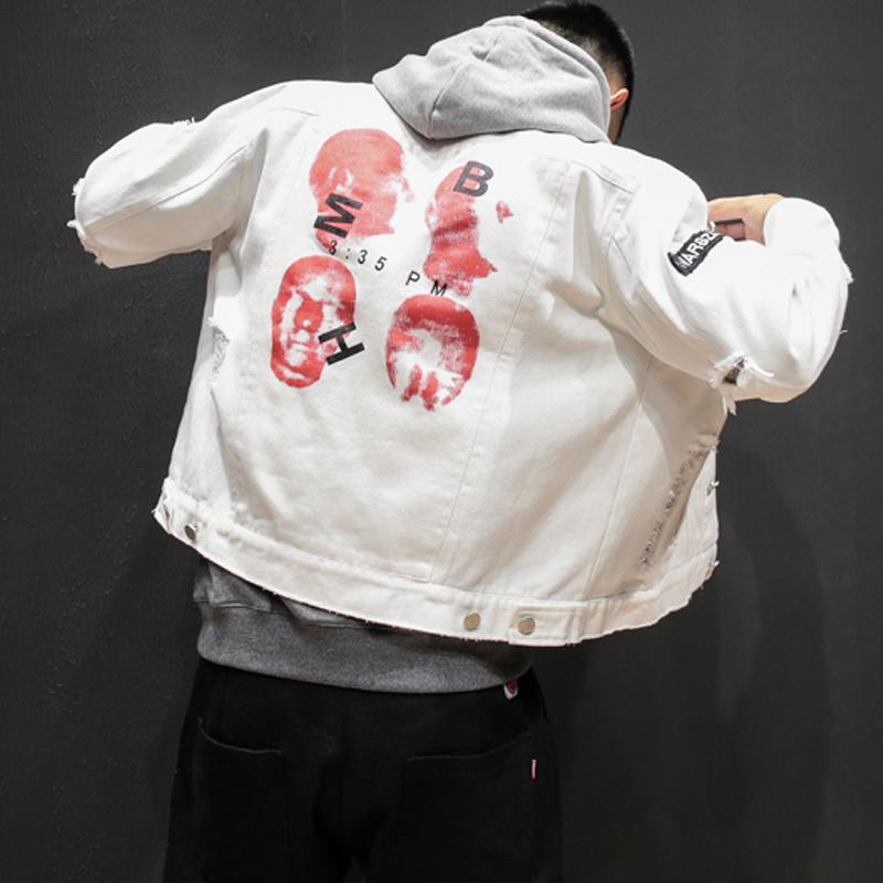 『年終免運』嘻哈 吳亦凡薛之謙周杰倫EXO權志龍陳冠希羅志祥同款破洞牛仔外套