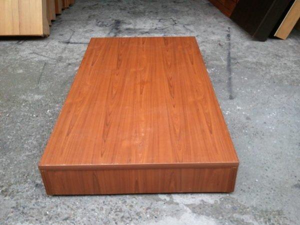 【安鑫】柚木色3.5尺單人加大【3.5X6.2尺】六分木芯板床架床板床底床箱!!【A988】