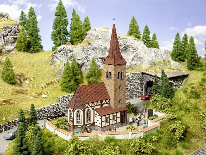 現貨 Noch 66906 HO規 聖喬治教堂.套件 (有鐘聲音效)