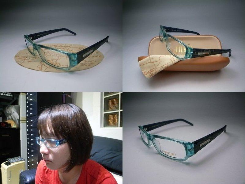 【信義計劃眼鏡】ALVIERO MARTINI 地圖眼鏡 膠框皮革鏡架 可配高度數小框 公司貨 搭配地圖包皮鞋皮帶皮夾護照夾手錶