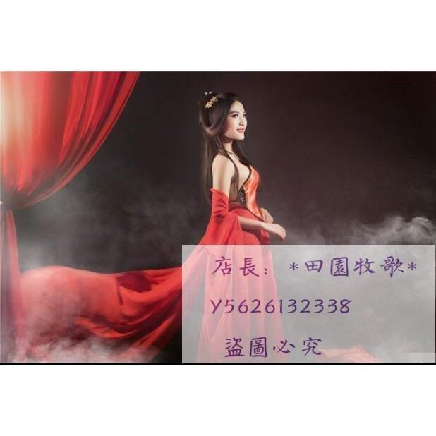 新款古裝服裝 性感舞蹈服古裝攝影寫真服裝飄逸紅唐裝漢服仙女服