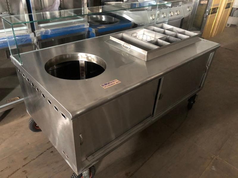 達慶餐飲設備 八里展示倉庫 二手商品  單孔關東煮車檯
