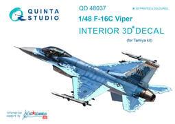 ㊣ Quinta Studio 1/48 美軍隼式戰機 F-16C Tamiya 3D立體浮雕水貼 QD48037