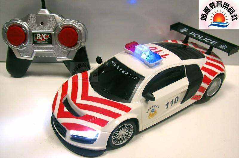 旭陽教育用品社-1:18國道高速公路警車遙控模型玩具車帶閃爍警燈/警察車遙控汽車模型玩具/國道警車遙控車玩具ST安全玩具