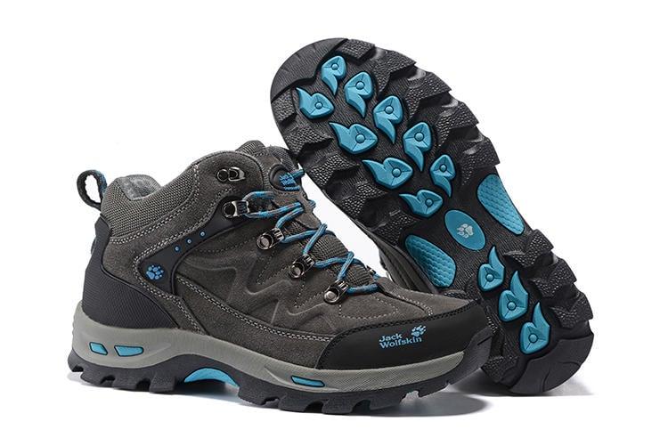 Jack wolfskin/狼爪登山鞋 高邦戶外運動鞋 防水防滑徒步鞋 男士登山鞋 雪地靴 高筒反毛皮戶外鞋