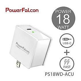 PowerFalcon 18W USB-C PD/QC3.0 單孔快速充電器-5821002