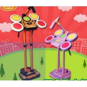 兒童節架子鼓寶寶麥克風爵士鼓小孩早教禮物話筒音樂器玩具(現宅配)