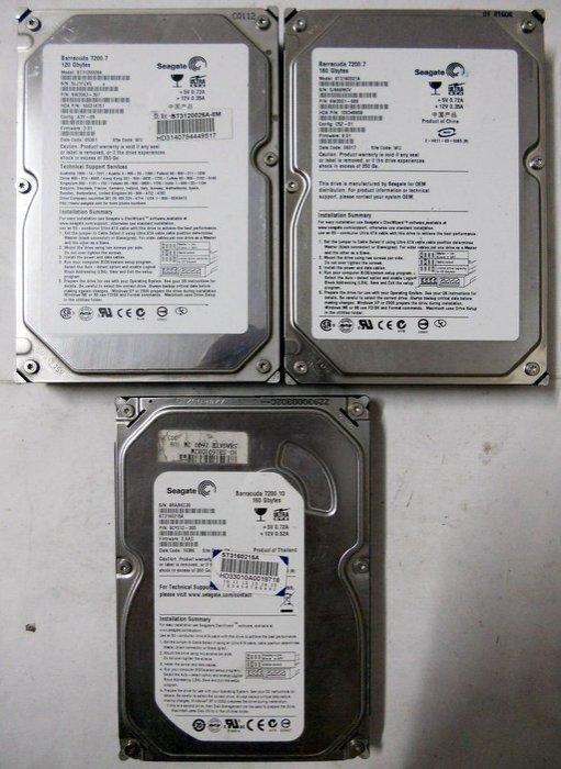 180元 3.5吋 Seagate WD 日立 IDE 160G 硬碟 160GB 7200轉