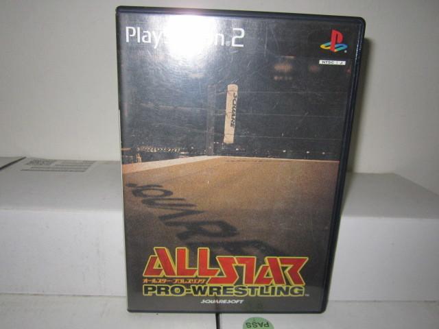 網路小站-特價出清-PS2 遊戲光碟  明星摔角 ALL STAR PRO -WRESTING 100元