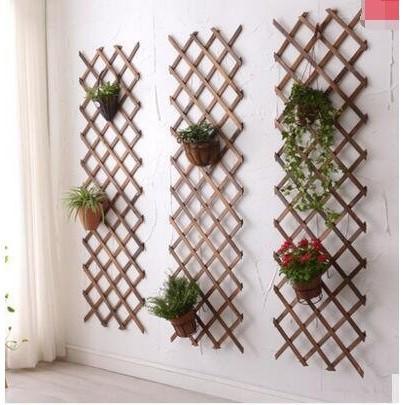 實木網格鐵藝客廳掛墻花架壁掛墻上裝飾陽臺墻壁綠蘿懸掛式花盆架