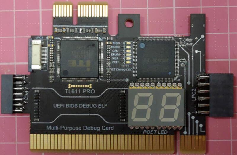 TL611 PRO 主機板診斷卡 / 出貨只有黑色