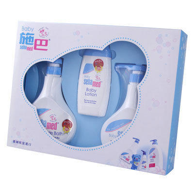 代訂 施巴sebamed粉藍誕生熊禮盒(粉藍大3件禮盒)