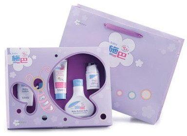 代訂 施巴sebamed嬰兒紫色蝴蝶小五件禮盒(新上市)