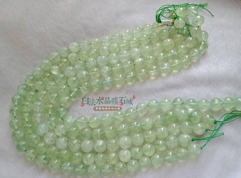 {大mm數一件不留出清特惠 } 巴西 天然-葡萄石 12mm 橄欖綠色的寶石 串珠/條珠 首飾材料