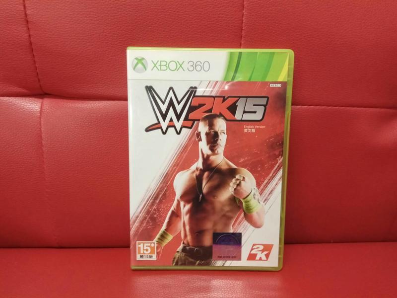 新北市板橋超便宜可面交賣XBOX360原版片~~美國勁爆職業摔角WWE 2K15~~下標就賣不用等