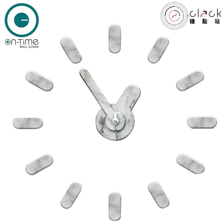 【鐘點站】On Time Wall Clock 大理石紋-壁貼鐘-掛鐘.無損牆面.居家佈置