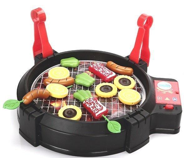 幼之圓 兒童BBQ電動烤肉玩具 電動燒烤 仿真家家酒玩具