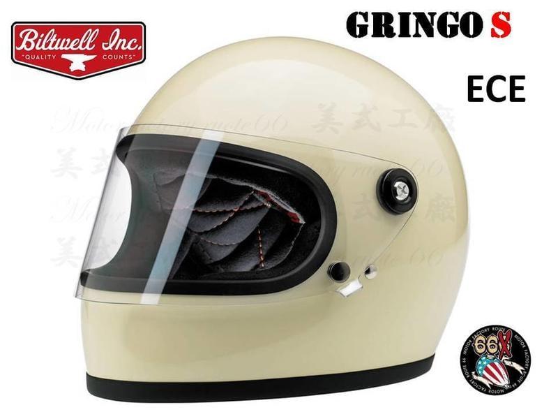 《美式工廠》美國 Biltwell GringoS Gloss Vintage White 復古象牙白 樂高 安全帽
