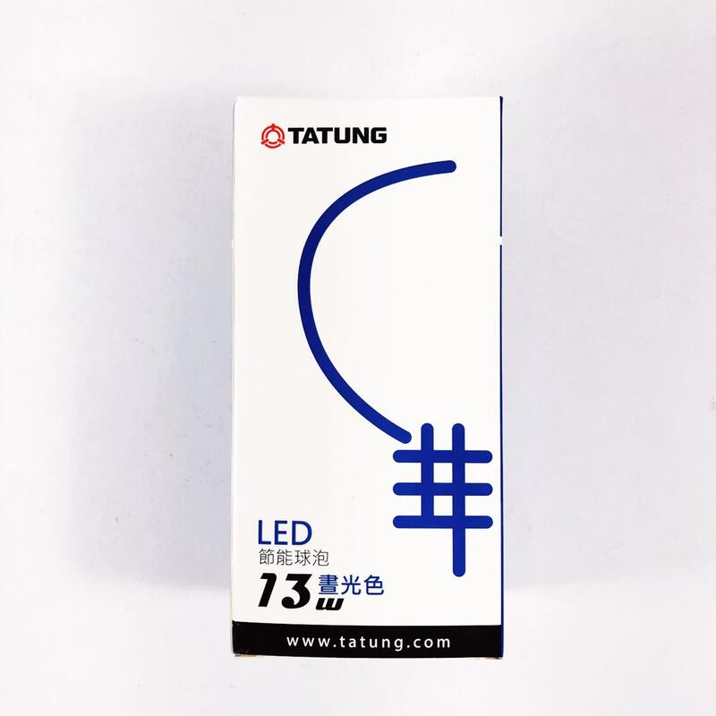 TATUNG 大同 13W LED節能燈泡 白光 / 黃光  TLL-13W / TLL-13W-1