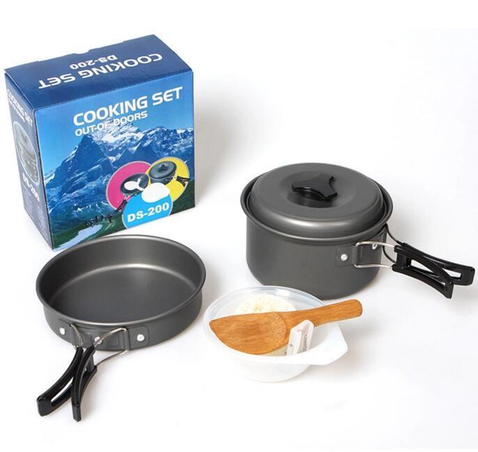 專供戶外露營登山1-2人戶外套鍋野營套鍋便攜式組合套鍋野炊野營鍋具