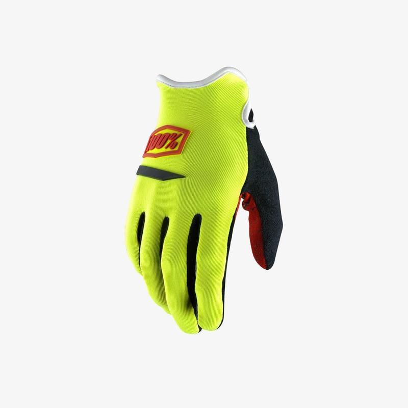 100% RideCamp 螢光黃 長指手套 S size