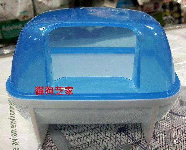 **貓狗芝家** 寵物鼠專用 方型透明砂浴盆 [大] .消費滿1500免費