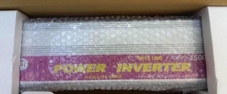 深循環電池好朋友 接頭可特製化【花電小站】台灣製保固一年1500W INVERTER逆變器,12V轉110V足瓦數