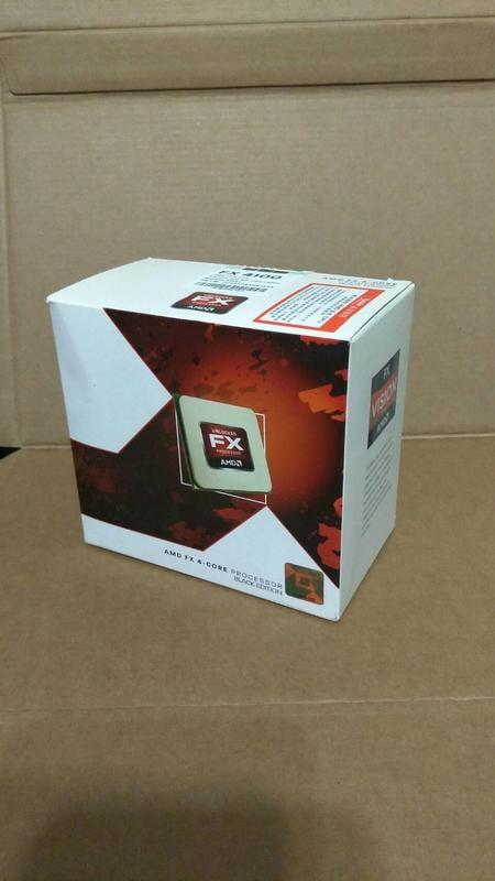 黑盒版 盒裝 AMD FX4100 & 原廠風扇 CPU 四核心 AM3+腳位 推土機