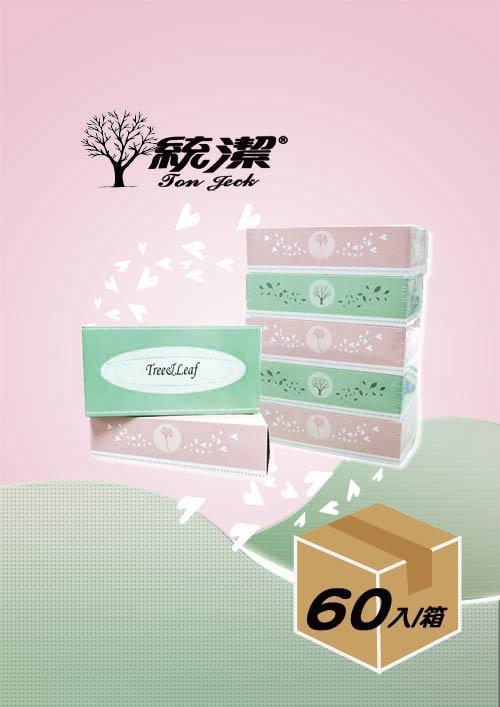 【統潔】日式質感盒裝面紙180抽.60盒/箱.家用,免運,團購,台灣製造