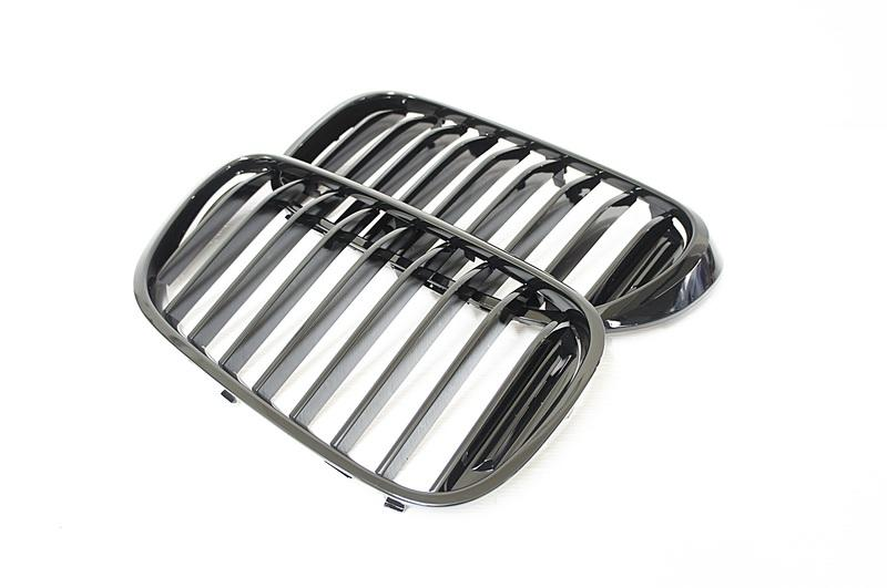 ~~ADT.車燈.車材~~BMW 新大7 G11 G12 單線霧亮黑鼻頭 單槓鋼琴黑水箱護罩