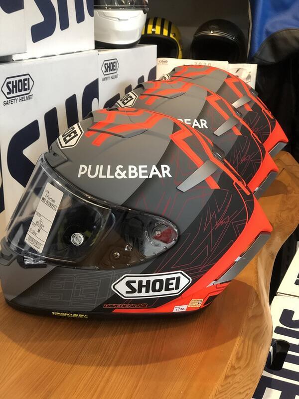 德芯騎士部品屋 日本 SHOEI X-14 MM93 BLACK CONCEPT 2.0 冬測帽 選手彩繪 全罩安全帽