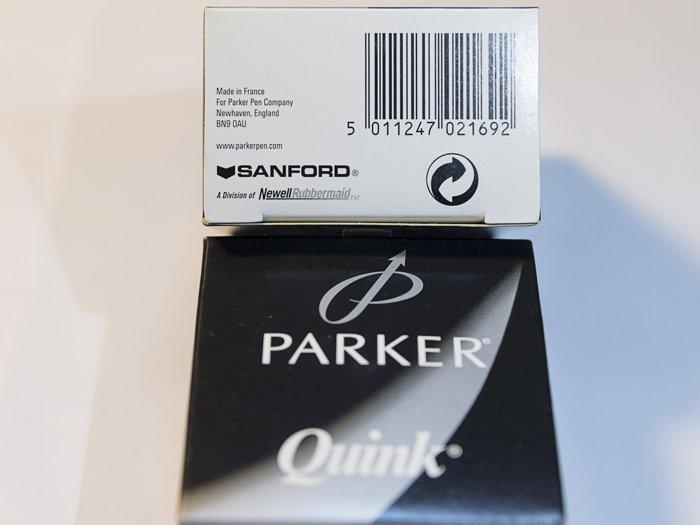 【Penworld】法國製 PARKER派克 (舊包裝)瓶裝墨水57ml 藍黑