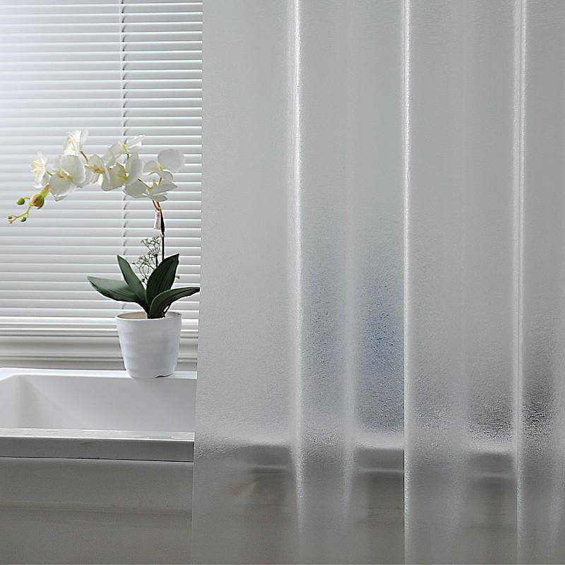 浴室浴簾布套裝免打孔防水防霉加厚衛生間淋浴隔斷簾子窗簾送掛鉤