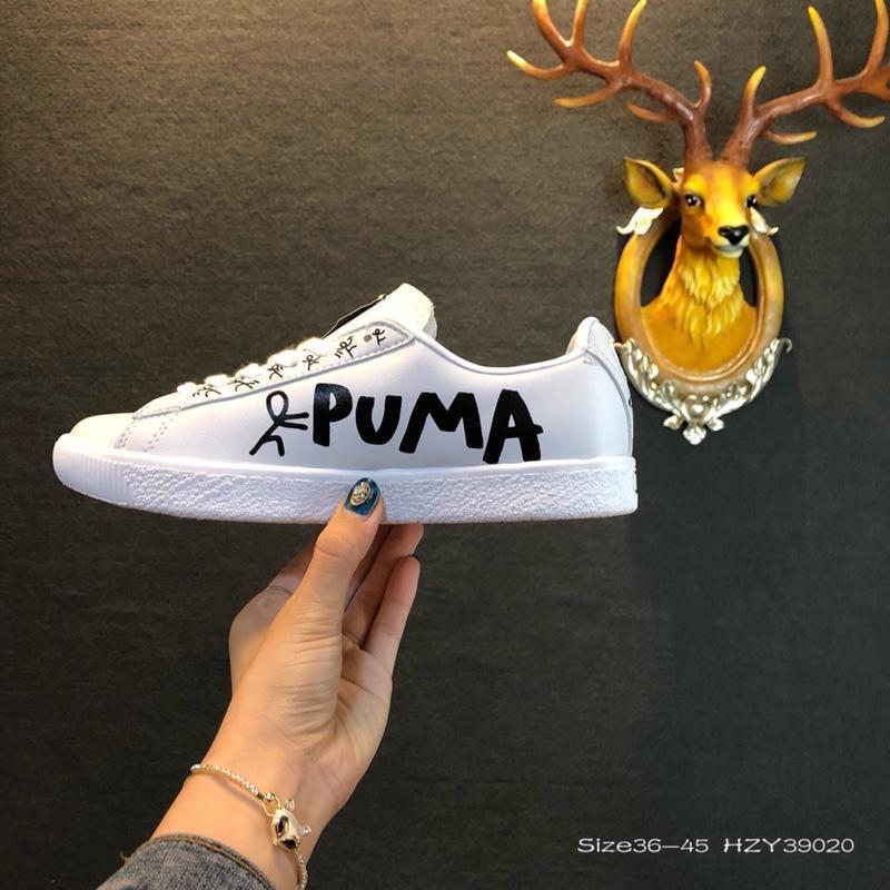 PUMA TSUGI Blaze evo KNIT 聯名合作款 彪馬低幫板鞋 2018新款黑白涂鴉新款男女子跑步鞋運動鞋