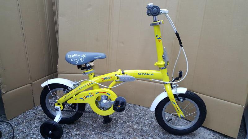 (免運+4大贈品)OYAMA 歐亞馬JR200 兒童折疊車(黃色)-【台中-大明自行車】